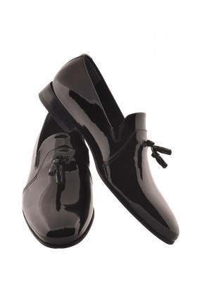 حذاء رجالي جلد - خمري