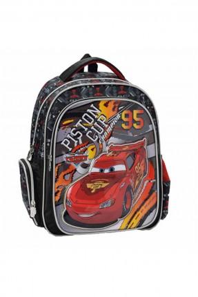 حقيبة ظهر  اطفال ولادي مدرسية مع رسمة سيارة