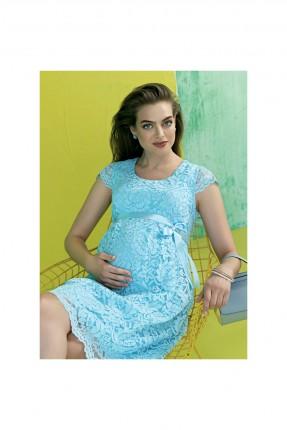 فستان حمل رسمي دانتيل - ازرق