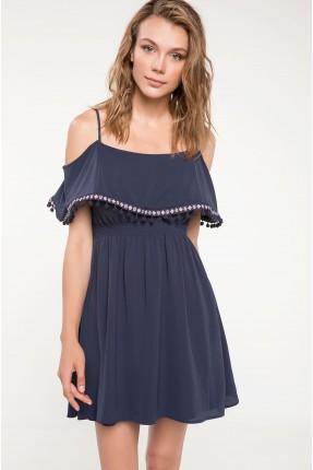 فستان رسمي قصير- ازرق داكن
