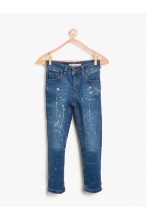بنطال اطفال ولادي جينز مزين من الامام