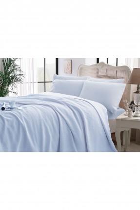 طقم بطانية سرير مزدوج - ازرق