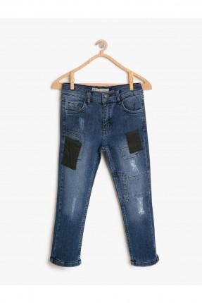 بنطال اطفال ولادي جينز مزين
