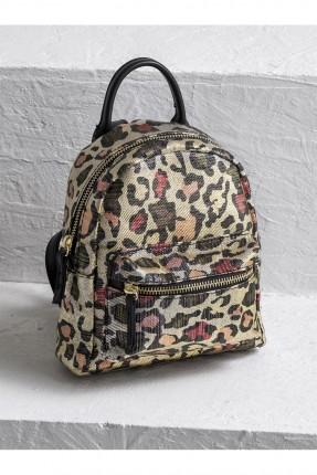 حقيبة ظهر نسائية نقش جلد النمر