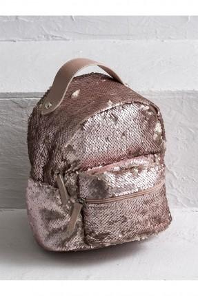 حقيبة ظهر نسائية شك - وردي