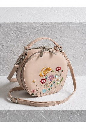 حقيبة يد نسائية مطرزة - وردي
