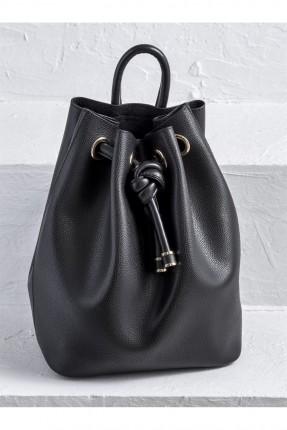 حقيبة ظهر نسائي جلد - اسود