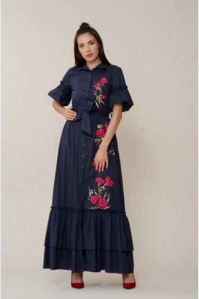 فستان سبور موديل قميص مع كشكش