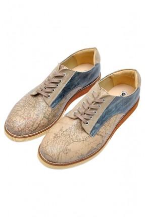 حذاء رجالي مطبوع مع رباطات سبور