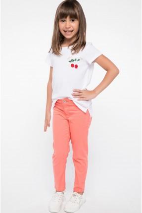 بنطال اطفال بناتي - وردي