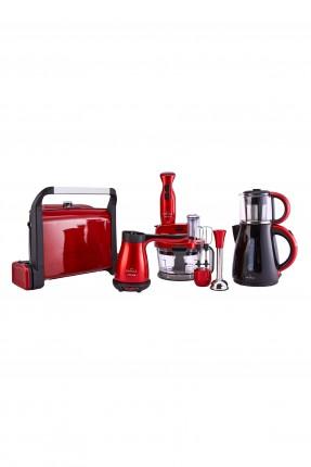 مجموعة متكاملة: ماكينة توست - ماكينة شاي - ماكينة قهوة - خلاط