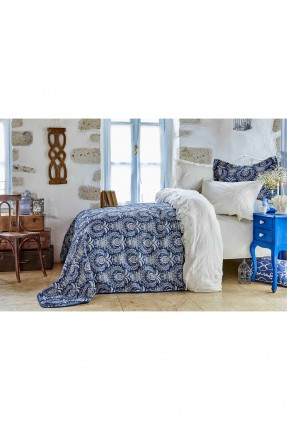 طقم غطاء سرير مزدوج منقوش زخرفة