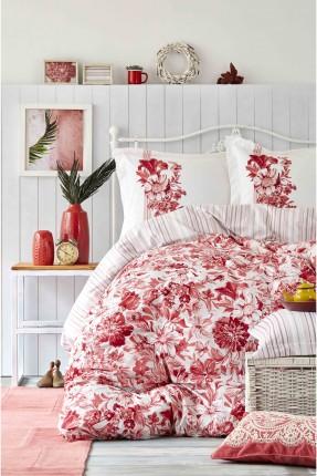طقم غطاء سرير مزدوج منقوش