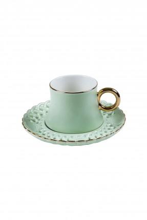 طقم فنجان قهوة - اخضر