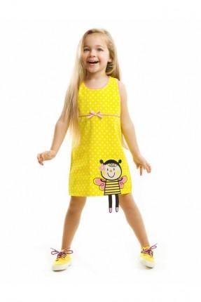 فستان اطفال بناتي _ اصفر