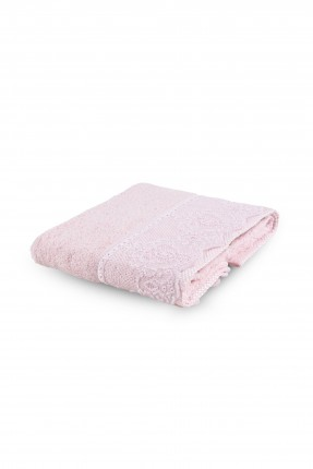 منشفة يد طرف مزخرف - وردي