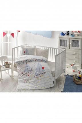 طقم غطاء سرير بيبي مع رسمة قوارب