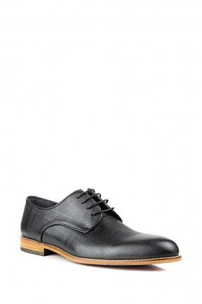 حذاء رجالي جلد رسمي مع رباطات