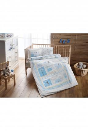 طقم غطاء سرير بيبي - ازرق