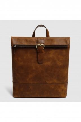 حقيبة ظهر نسائية مع سحاب وحزام