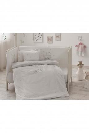 طقم غطاء لحاف سرير بيبي - رسمة عربة بيبي