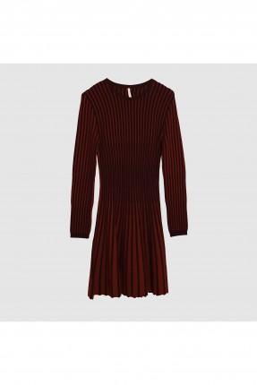 فستان سبور مقلم باكمام طويلة سبور