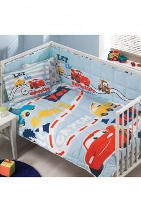 طقم لحاف سرير بيبي - رسمة سيارة