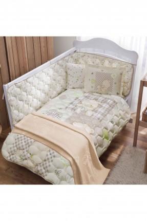 طقم لحاف سرير بيبي مع بطانية - رسمة دب