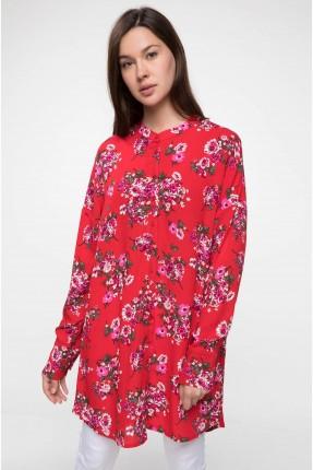 قميص نسائي مورد - احمر