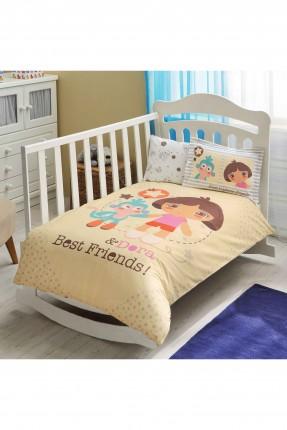 طقم غطاء سرير بيبي بناتي - رسمة دورا