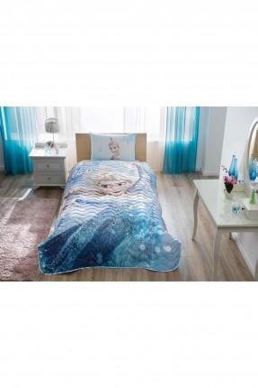 غطاء سرير اطفال بناتي - رسمة ديزني فروزن