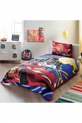 طقم لحاف سرير اطفال - رسمة سيارة