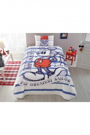 طقم بطانية سرير اطفال ولادي - ميكي ماوس