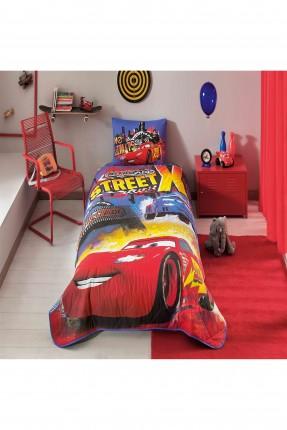 طقم غطاء سرير اطفال - رسمة سيارة