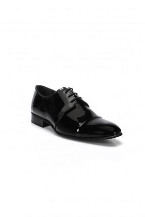 حذاء رجالي جلد طبيعي رسمي - اسود