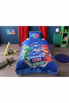 طقم لحاف سرير اطفال ولادي مع رسمة