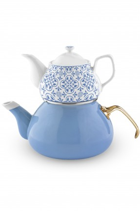 ابريق شاي تركي - ازرق