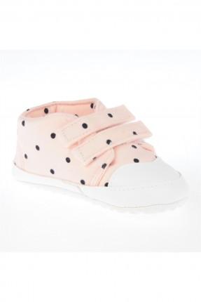 حذاء بيبي بناتي مع لاصق للاغلاق - وردي