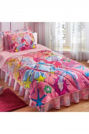 طقم لحاف سرير اطفال بناتي مع رسمة