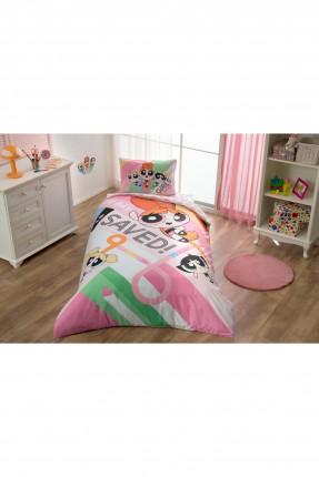 طقم غطاء سرير اطفال بناتي - الفتيات الخارقات