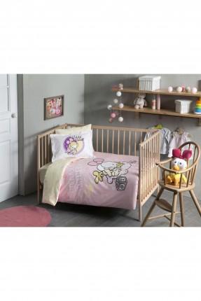 طقم غطاء سرير بيبي بناتي مع رسمة