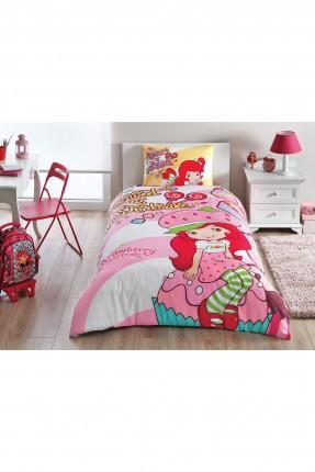 طقم غطاء سرير اطفال بناتي - ستروبري