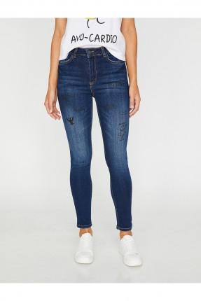 بنطال نسائي جينز مع طبعات سبور