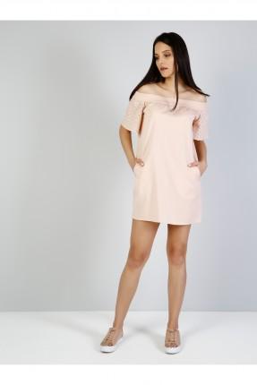 فستان سبور نسائي قصير مكشوف الكتف