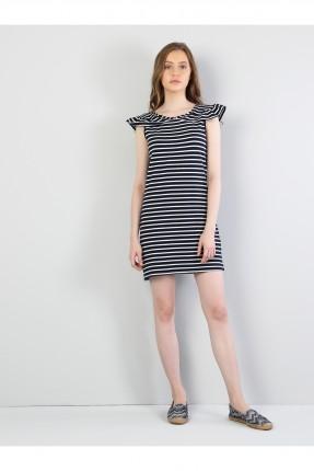 فستان سبور نسائي مخطط قصير