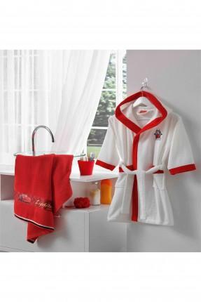 منشفة حمام اطفال ولادي - احمر