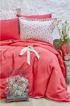 طقم بطانية سرير مفرد ملون