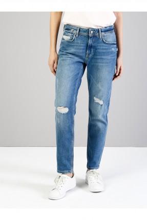 بنطال جينز نسائي بوي فريند ممزق