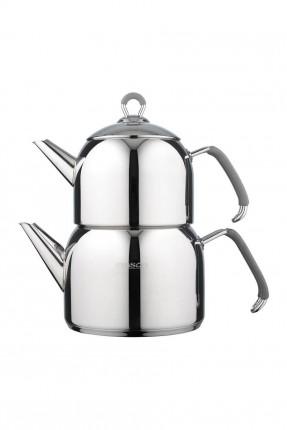 طقم ابريق شاي تركي ستانلس ستيل