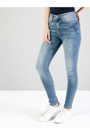 بنطال جينز نسائي بتطريز ناعم